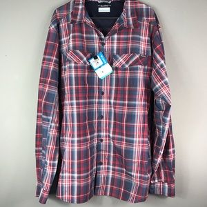 NEW Men's Columbia Omni-Shade Button Down